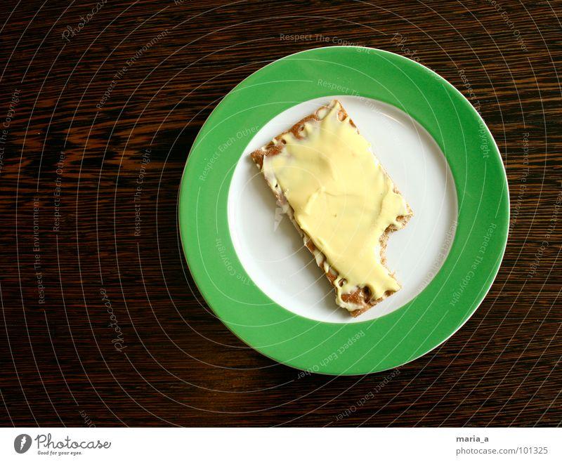 Mhhhh grün dunkel Holz hell Ernährung leer Tisch Kreis Streifen rund Teile u. Stücke Appetit & Hunger Frühstück lecker Teller Alkoholisiert