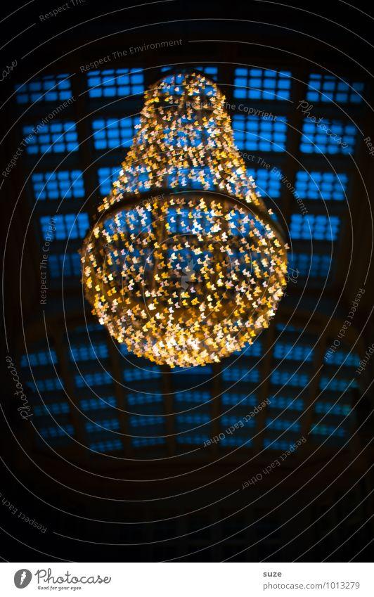 Der Kokon blau schön dunkel Fenster gelb Gefühle Stil Hintergrundbild Feste & Feiern außergewöhnlich Stimmung Lifestyle Dekoration & Verzierung Design leuchten gold
