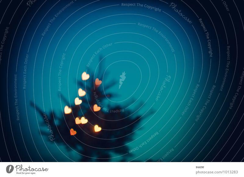 Herzhaftes blau Weihnachten & Advent dunkel Gefühle Beleuchtung Stil Lifestyle Feste & Feiern außergewöhnlich Stimmung Design leuchten Dekoration & Verzierung Fröhlichkeit Kreativität fantastisch