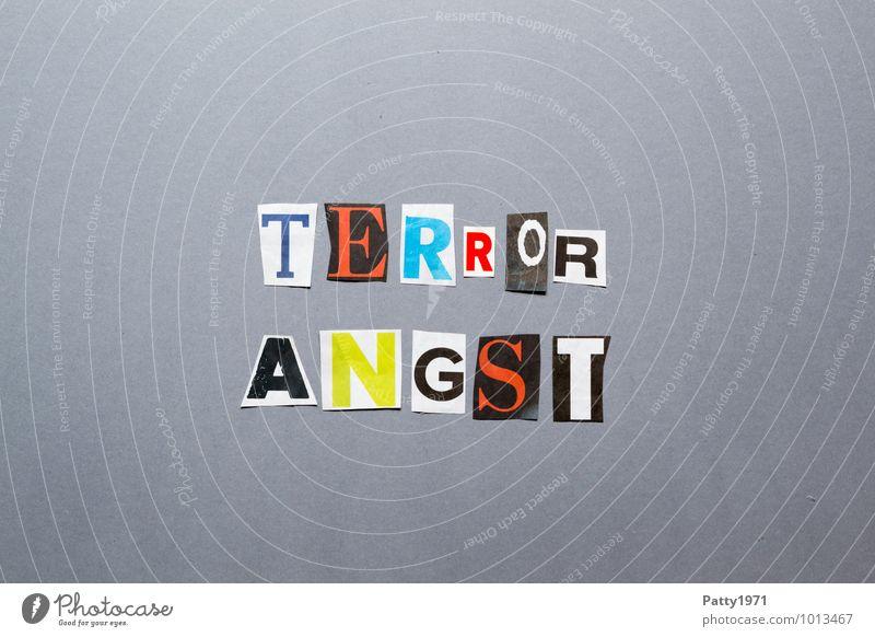Terrorangst Zeichen Schriftzeichen Typographie Graffiti Gefühle Angst Entsetzen Todesangst gefährlich Gewalt Hass bedrohlich Gesellschaft (Soziologie)