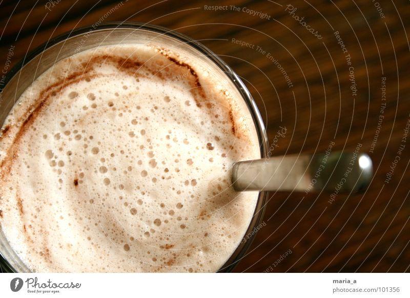 kakaooo Pulver Schaum Löffel Holz lecker Automat Milcherzeugnisse Kakao Blase ikea Maserung schaumig milchpulver Glas noch mehr davon