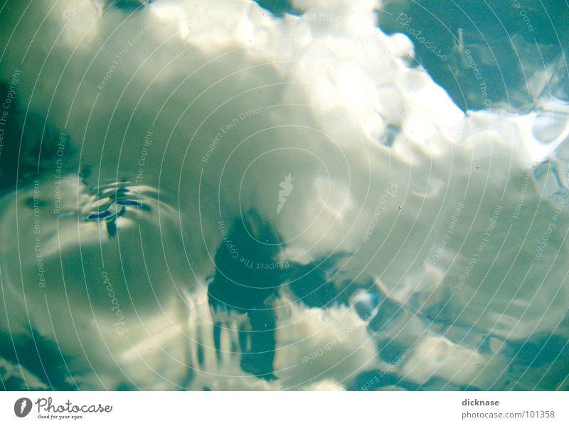 Liquid clouds Sommer Spielen Stil gemalt liquide Aquarell