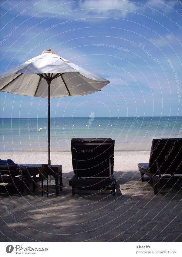 Relax mal wieder... Erholung Strand Thailand Koh Samui Asien Meer Traumstrand Sonnenschirm Küste Chaweng Noi