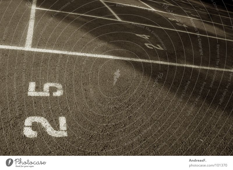 Countdown Straße Geburtstag Schilder & Markierungen Asphalt Ziffern & Zahlen Parkplatz parken rechnen Mathematik 23