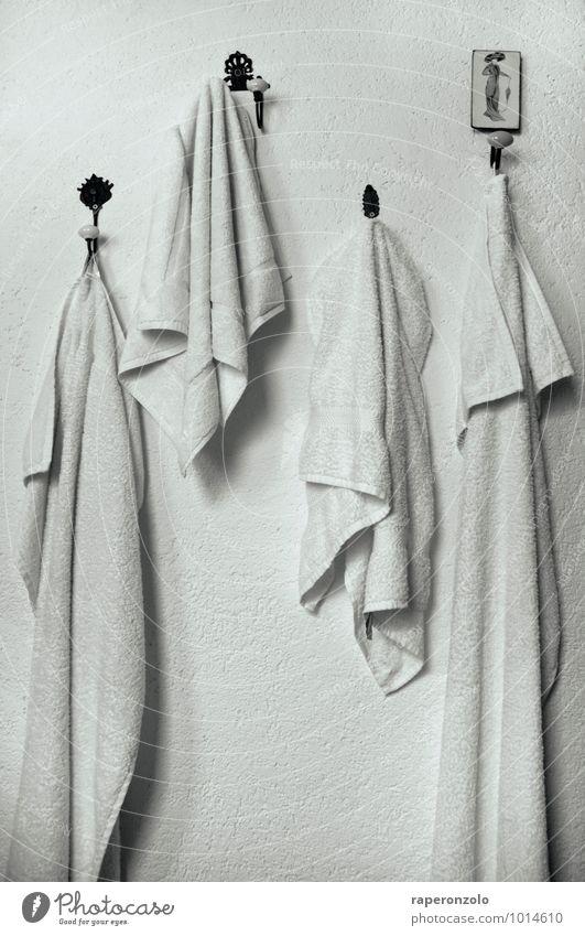 Paint it ... schön Häusliches Leben Bad Mauer Wand Ziffern & Zahlen hängen weiß gleich Farbstoff Handtuch Handtuchhaken 4 ähnlich Sauberkeit trist Frottée Haken