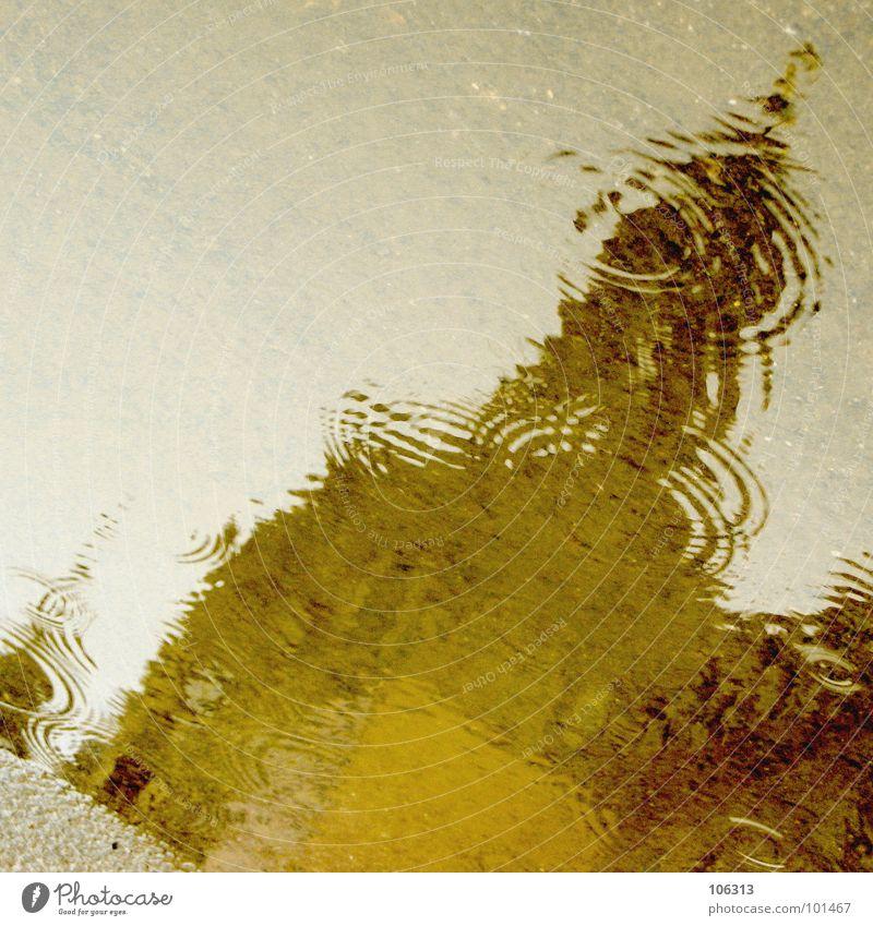 NEUE PERSPEKTIVEN Architektur Regen Kunst Religion & Glaube nass frisch Wassertropfen Perspektive Kultur außergewöhnlich Asphalt Bauwerk Symbole & Metaphern