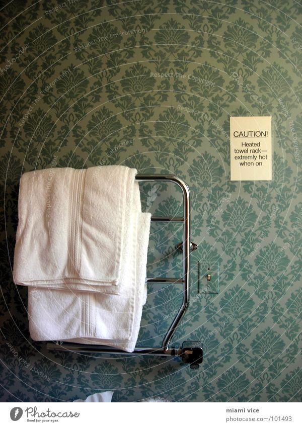 Towel Rack Hinweisschild Hotel Tapete Dienstleistungsgewerbe Warnhinweis Handtuch Bildausschnitt Warnung Halterung Warnschild Hotelzimmer Ordnungsliebe