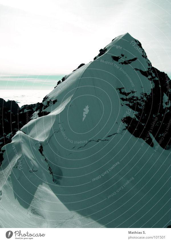 Bolivien IV Wechte Ferien & Urlaub & Reisen weiß Ecke Stein Tiefschnee Südamerika gefährlich Panorama (Aussicht) Gipfel fertig Absturz Berge u. Gebirge Schnee