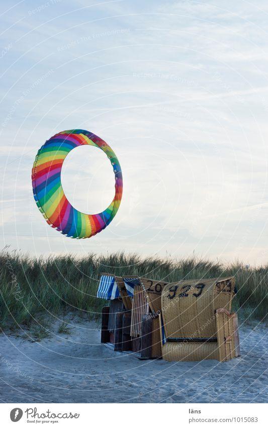 Windrad Wellness Zufriedenheit Sinnesorgane Erholung ruhig Lenkdrachen Ferien & Urlaub & Reisen Tourismus Ausflug Strand Meer Umwelt Natur Landschaft Sand Luft