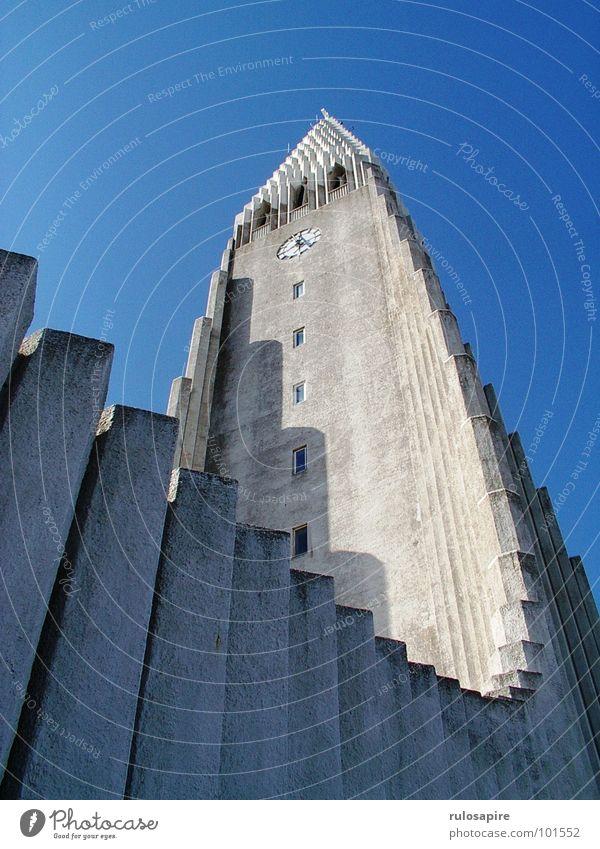Hallgrímskirkja Reykjavík Island Gotteshäuser Church Religion & Glaube Himmel blau
