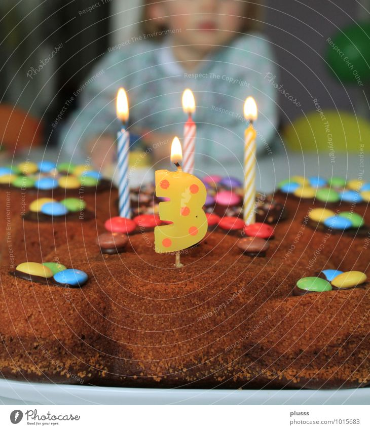 Happy Birthday Schokolade Party Feste & Feiern Geburtstag Kind Mädchen Kindheit 1 Mensch 1-3 Jahre Kleinkind Glück Fröhlichkeit Vorfreude Geburtstagstorte