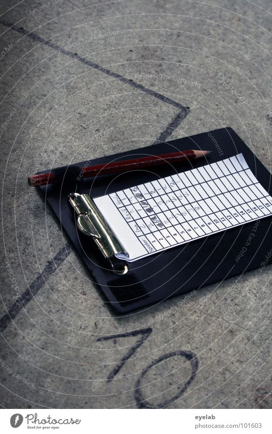 Wer schreibt, der bleibt ! Minigolf Spielen Ferien & Urlaub & Reisen Freizeit & Hobby 10 grau Stahl Bahnbegrenzung Ziffern & Zahlen Typographie Stillleben
