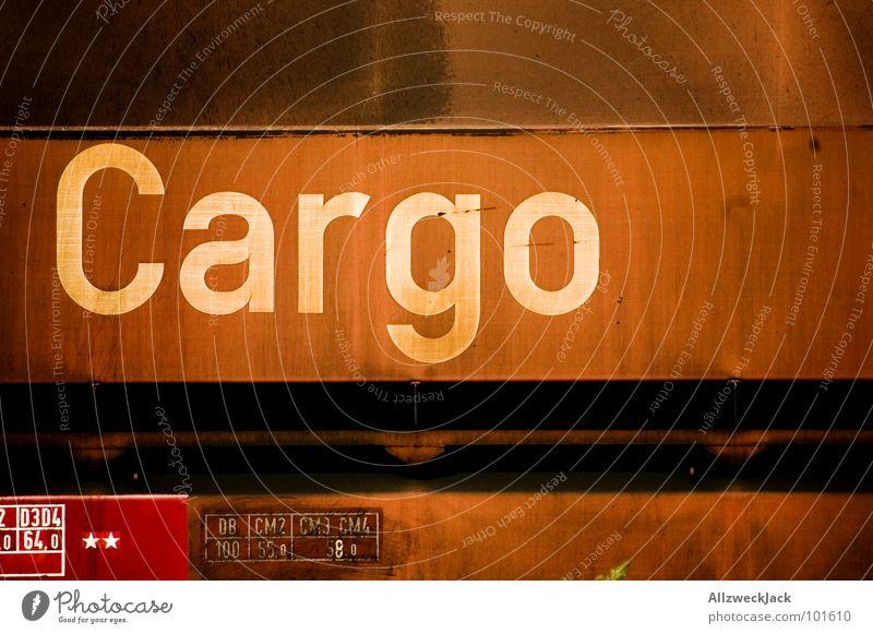 Trainspotting Metall Verkehr Eisenbahn Industrie Güterverkehr & Logistik Schriftzeichen Buchstaben Gleise Rost Ware Ladung Güterzug Schienenfahrzeug