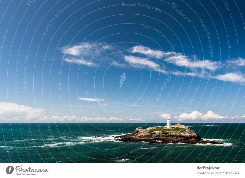 Was für ein schönes Fleckchen für einen Leuchtturm Natur Ferien & Urlaub & Reisen Pflanze Meer Landschaft Ferne Umwelt Küste Freiheit Felsen Wellen Tourismus