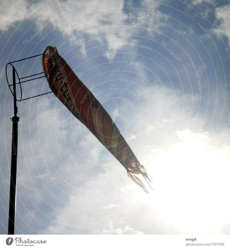 wenig Wind weiß Sonne blau rot Wolken gelb Wind Freizeit & Hobby Dinge Stab