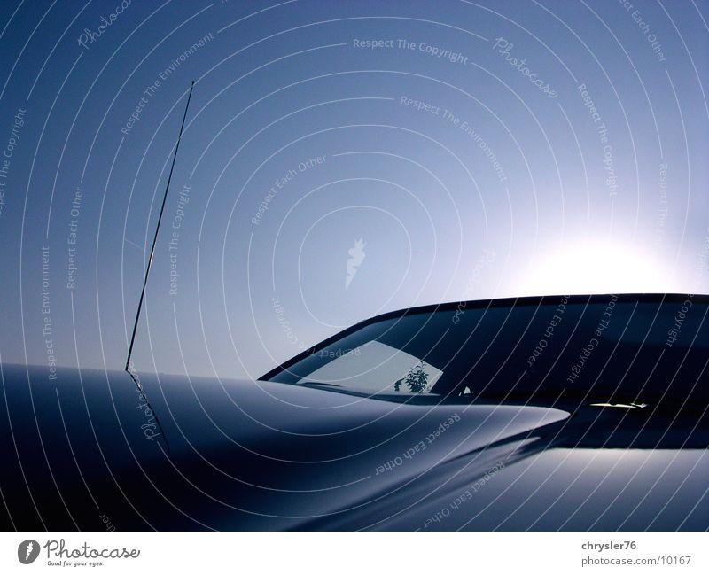 hood horizon Himmel blau PKW Horizont Fensterscheibe Fototechnik