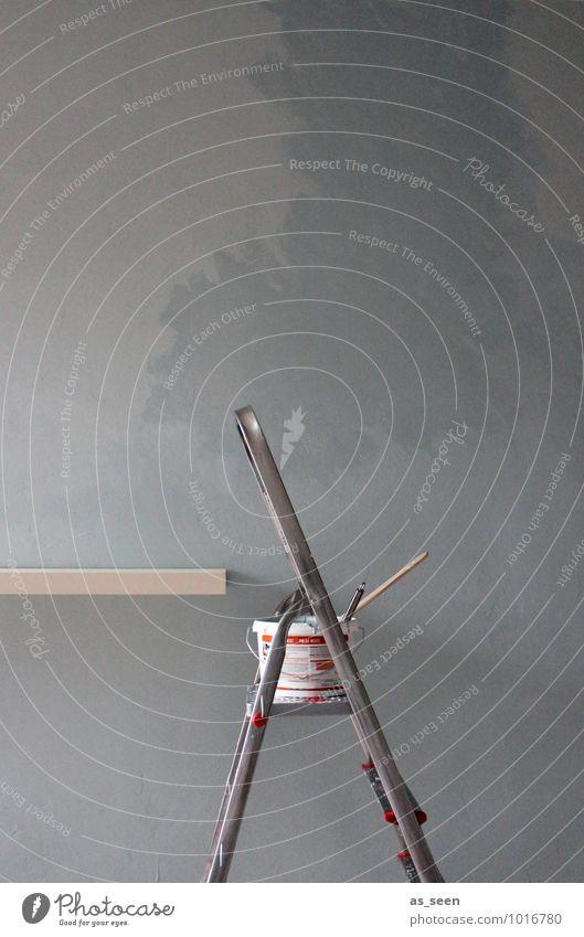 Renovierungsarbeiten blau Farbe weiß Farbstoff Innenarchitektur grau Wohnung Raum Häusliches Leben Dekoration & Verzierung authentisch Beginn Kreativität