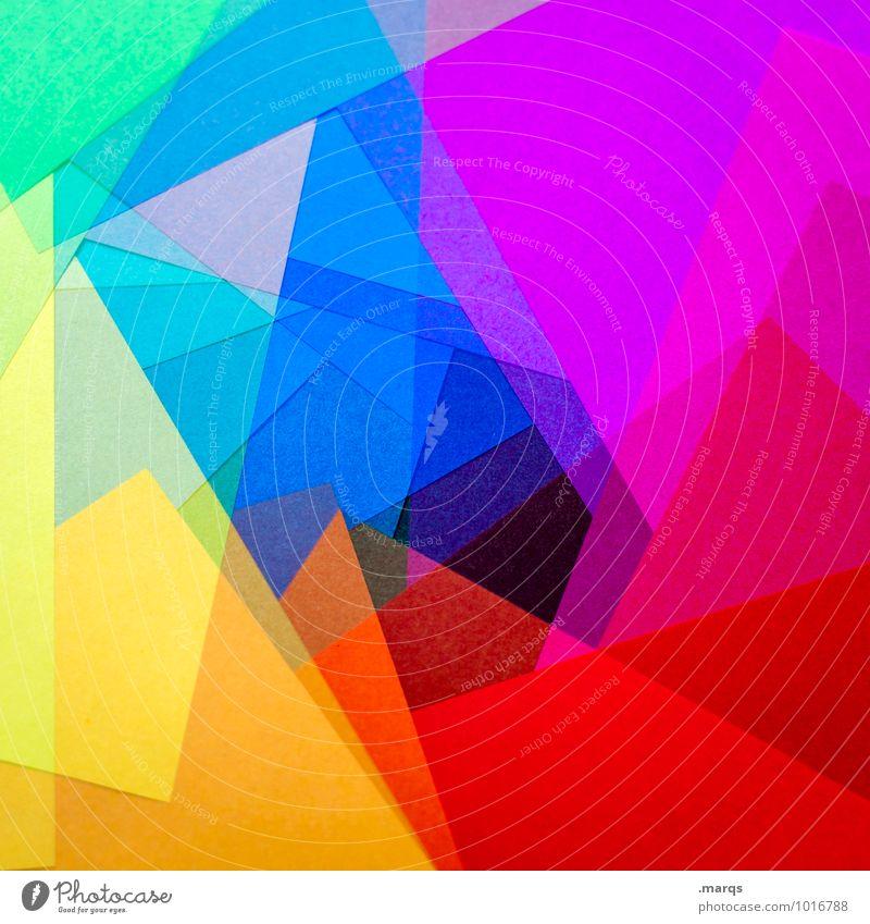Polygon Farbe Stil Design ästhetisch Kreativität Papier Irritation eckig Doppelbelichtung Rauschmittel spektral LSD