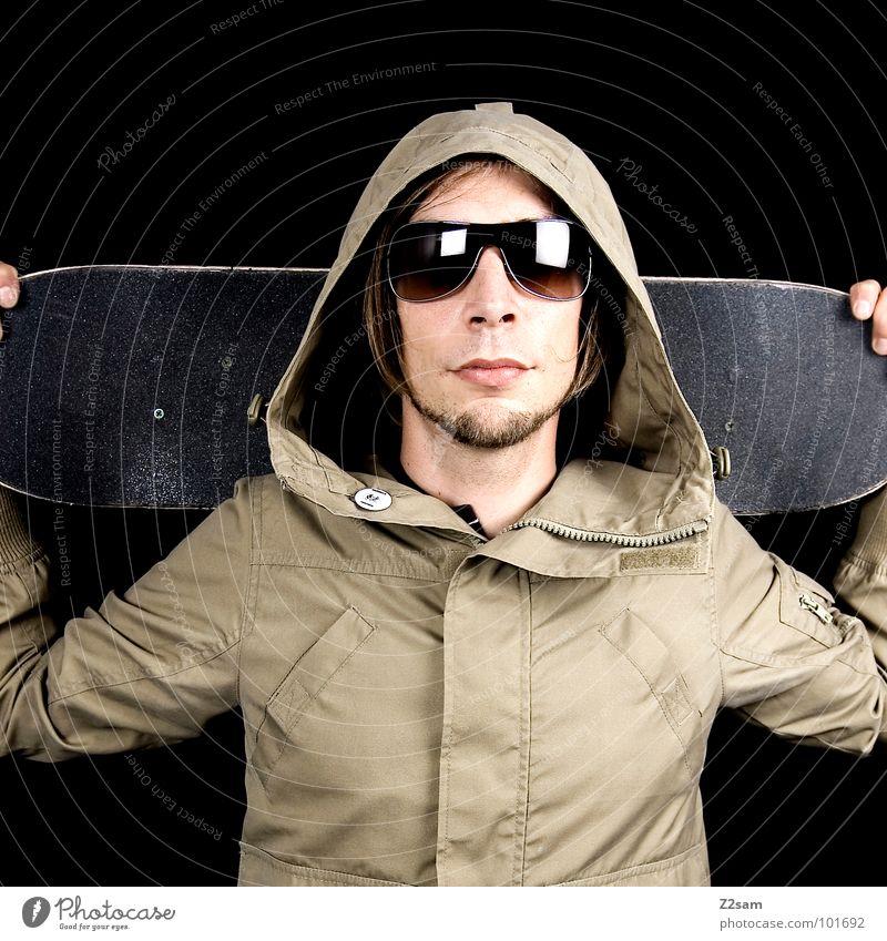 sk8er Mensch Mann Jugendliche Haare & Frisuren Kopf Stil Mode Zufriedenheit glänzend maskulin modern Finger stehen Lifestyle Coolness Brille