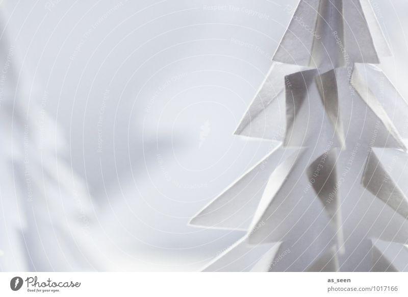 Origami Natur Weihnachten & Advent Farbe weiß Baum Landschaft ruhig Winter Wald Umwelt Schnee Stil Kunst elegant Dekoration & Verzierung Design
