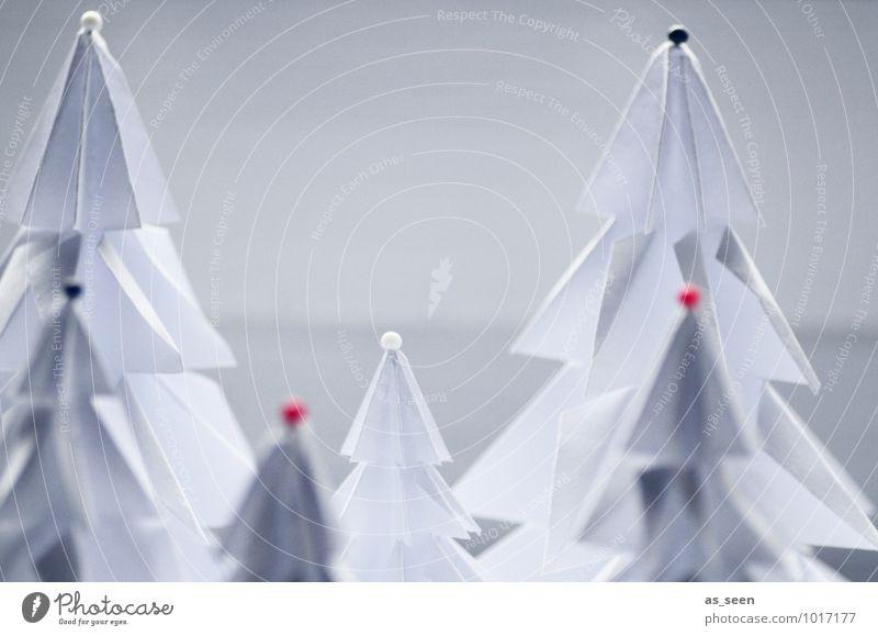 Winterfreuden elegant Stil Design Wellness Erholung ruhig Meditation Basteln Weihnachten & Advent Kunsthandwerk Origami Umwelt Natur Pflanze Schnee Baum Tanne