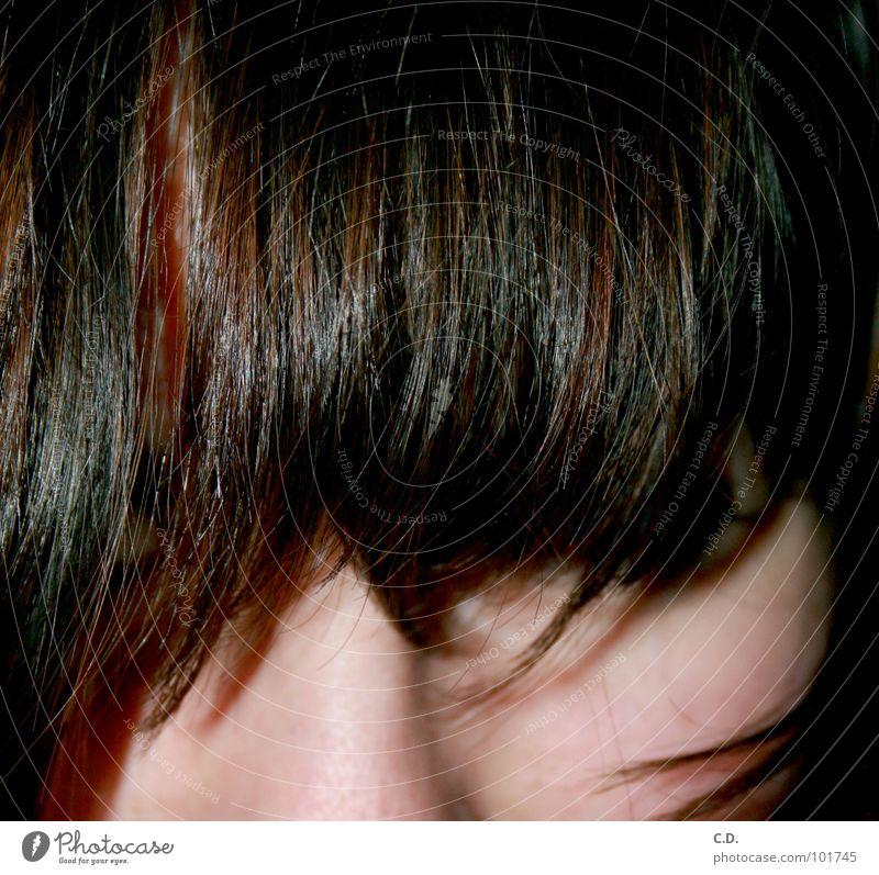 der Durchblick Jugendliche Gesicht schwarz Haare & Frisuren braun Haut rotbraun