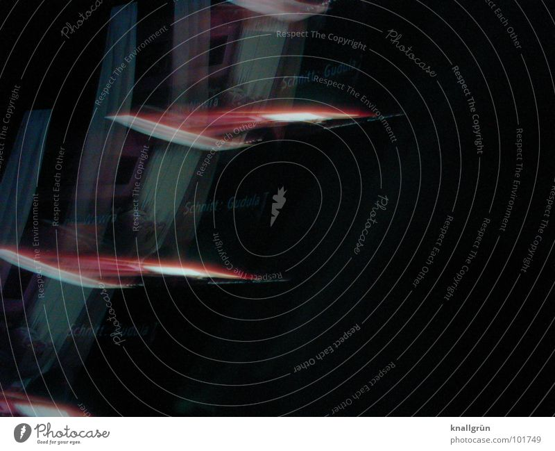 Flying Pictures rot schwarz Farbe dunkel Bewegung fliegen Schliere