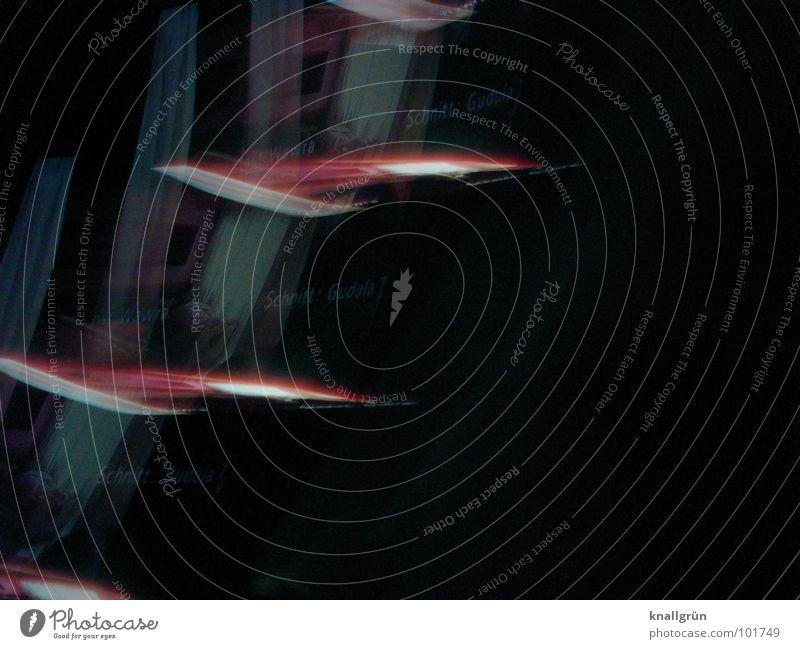 Flying Pictures schwarz dunkel rot Bewegung Schliere Farbe Fotokunst fliegen Move Reflexion & Spiegelung