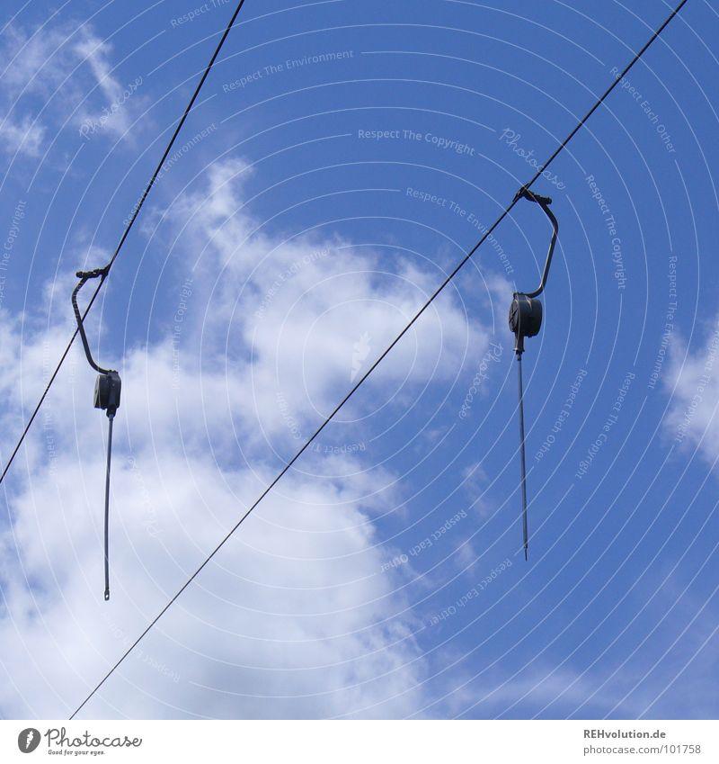 LIFT ohne Sessel :-) Himmel Ferien & Urlaub & Reisen blau Sommer Wolken Spielen Geschwindigkeit Ausflug Fahrstuhl Funsport Seilbahn Sommertag