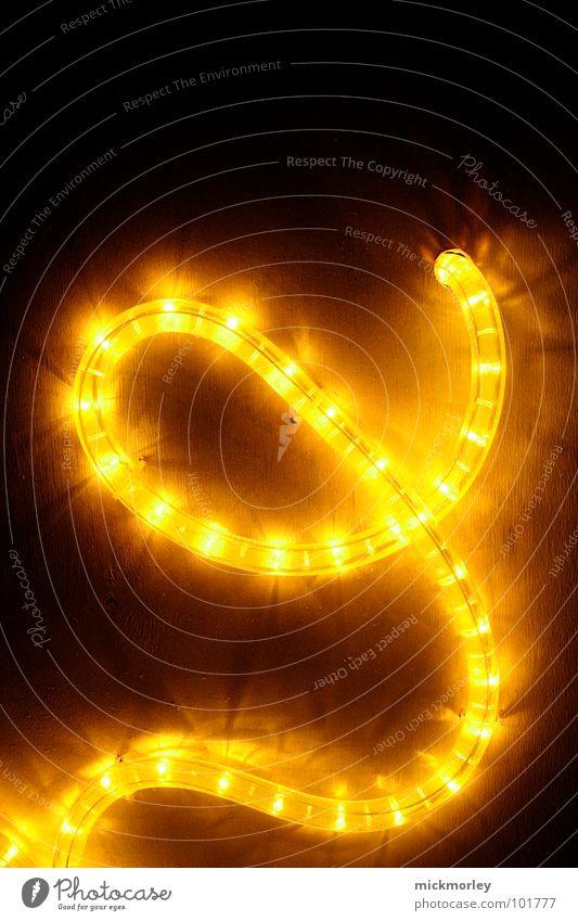 lichtkette 03 schön rot gelb Lampe dunkel Dekoration & Verzierung Buchstaben Kette Ampel Schwung unheimlich Leuchtdiode schlangenförmig