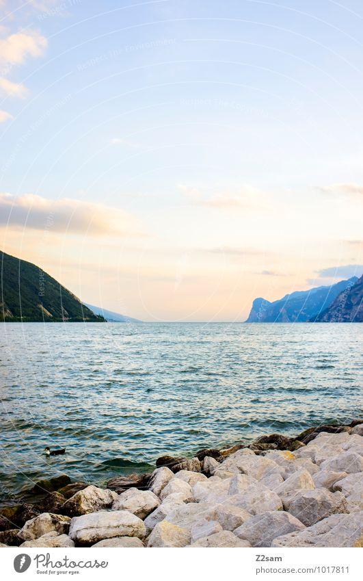 Lago di Garda Himmel Natur Ferien & Urlaub & Reisen Sommer Erholung Landschaft ruhig Ferne Berge u. Gebirge natürlich See Idylle ästhetisch groß Warmherzigkeit
