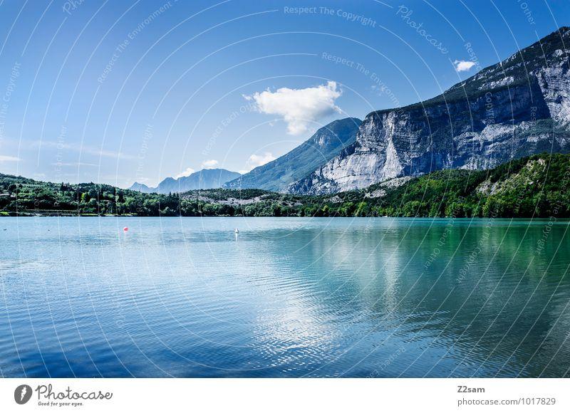 Lago di Cavedine Himmel Natur Ferien & Urlaub & Reisen blau grün Farbe Sommer Erholung Einsamkeit Landschaft ruhig Umwelt Berge u. Gebirge natürlich See