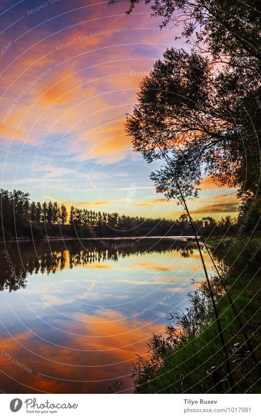Himmel Natur blau schön grün Farbe Wasser Sonne Wald natürlich Trinkwasser Aussicht Europa Spanien Fluss Beautyfotografie