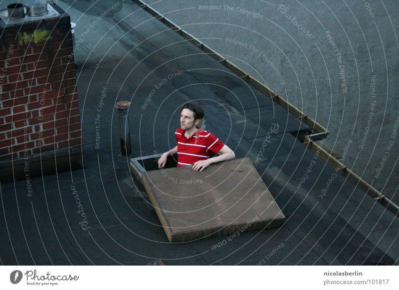 The Substitute rot Erholung grau warten Architektur Sicherheit Dach verfallen Abschied