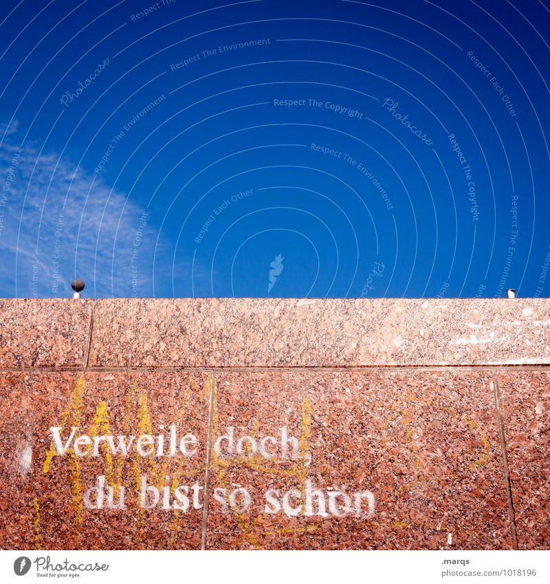 Faust Wolkenloser Himmel Schönes Wetter Mauer Wand Schriftzeichen Graffiti Kommunizieren einfach schön Sympathie Redewendung Aufenthalt Kultur Literatur