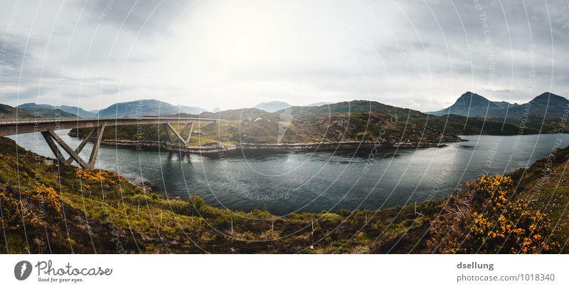 Loch a' Chàirn Bhàin Himmel blau grün Sommer Landschaft Wolken Wald kalt gelb Herbst Wiese Küste Wege & Pfade Frühling grau See