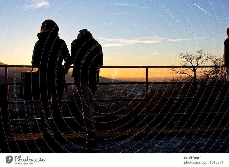 """""""Schatz ich muss noch shoppen!"""" Mensch Junge Frau Jugendliche Junger Mann Paar Partner 2 Landschaft Sonnenaufgang Sonnenuntergang Sonnenlicht Winter"""