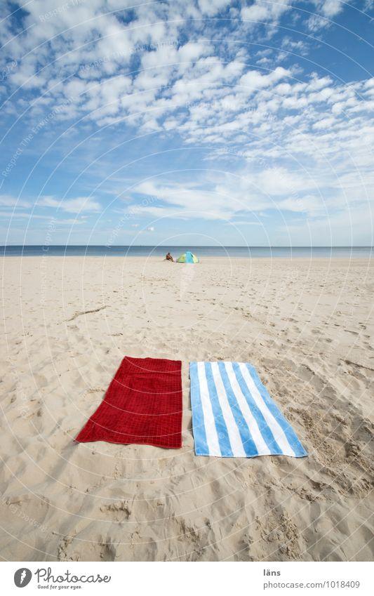 freie platzwahl Wohlgefühl Zufriedenheit Erholung ruhig Ferien & Urlaub & Reisen Tourismus Ausflug Ferne Strand Meer Umwelt Natur Landschaft Urelemente Sand