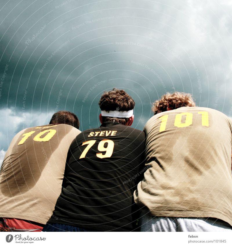 3 GRAZIEN Himmel Sport Spielen Stil Zusammensein Angst nass Erfolg Sportmannschaft T-Shirt Ziffern & Zahlen Konzentration eng Teamwork verloren
