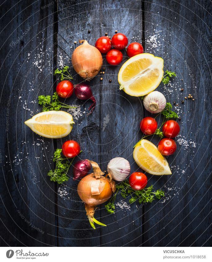 Gemüse Zutaten für Tomatensauce Gesunde Ernährung Leben Stil Hintergrundbild Garten Lebensmittel Design Kochen & Garen & Backen Küche Kräuter & Gewürze