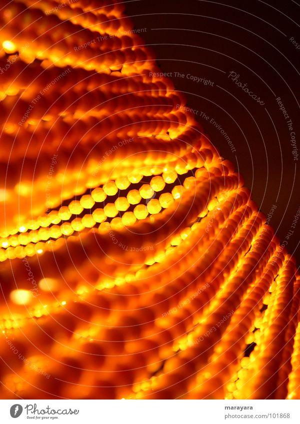 Durchblick Lampe Licht gelb Perle Stimmung Lampenschirm Dekoration & Verzierung orange