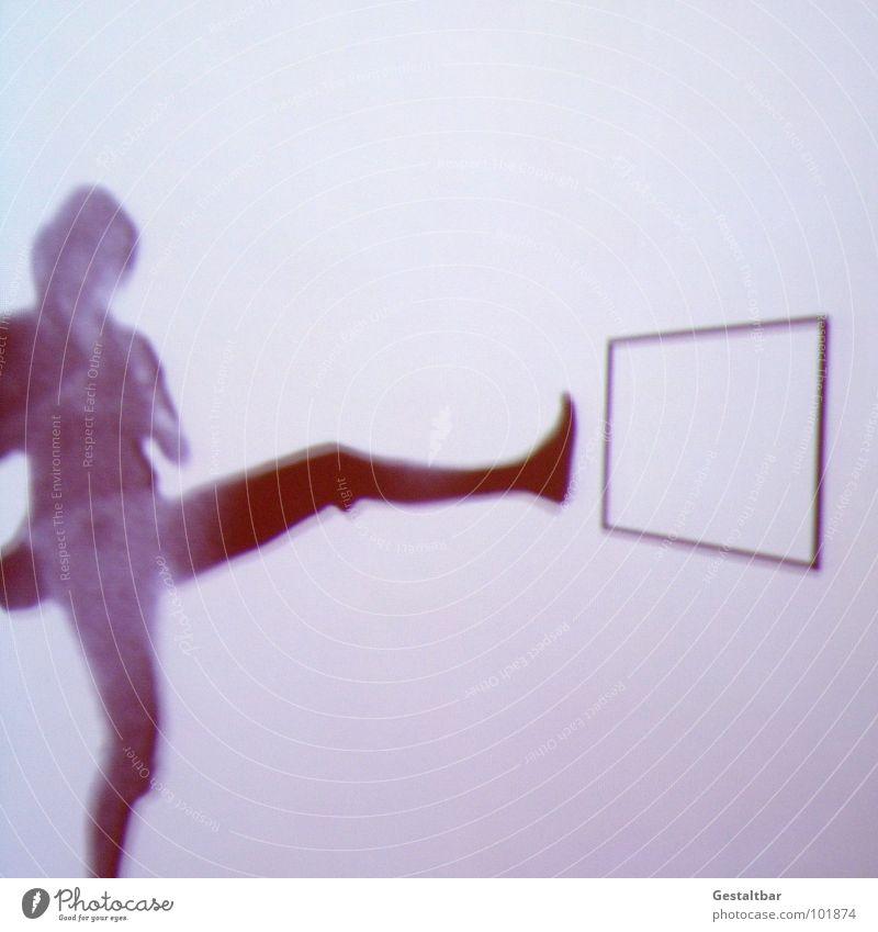 Schattenspiel 04 Frau ruhig feminin Fenster Haare & Frisuren Bewegung Denken Perspektive Aktion geheimnisvoll Aussicht Rahmen Messe Tasche seltsam