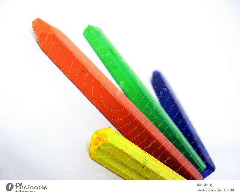 vier Farben Gemälde mehrfarbig Fröhlichkeit Pastellton Kunst zusätzlich gelb rot grün Makroaufnahme Nahaufnahme streichen glüchlich blau