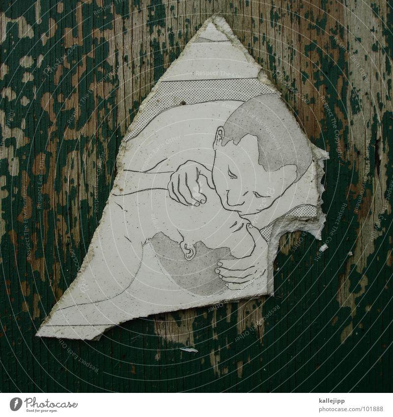 first aid Arzt Notfall Unfall ertrinken Notarzt Gemälde Zungenkuss Küssen Liebe Erste Hilfe Holz verwittert abblättern Küste Rettungsring untergehen Splitter