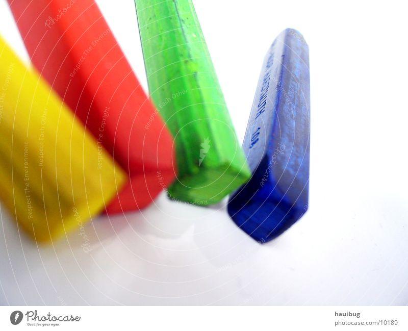 vier Farben zum Zweiten Gemälde mehrfarbig Fröhlichkeit Pastellton Kunst zusätzlich gelb rot grün Makroaufnahme Nahaufnahme streichen glüchlich blau