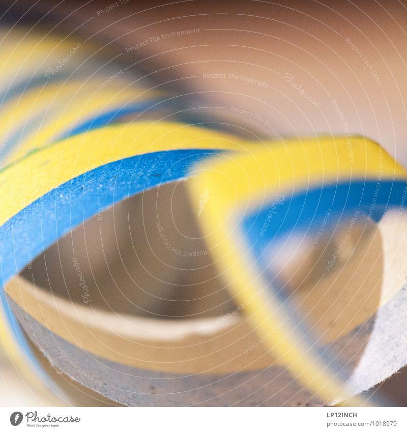 Luftschlange. I 2015 blau Freude gelb Feste & Feiern Party Freundschaft Dekoration & Verzierung Geburtstag Fröhlichkeit Papier Veranstaltung