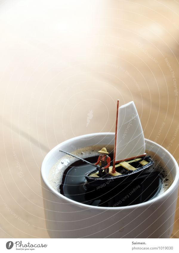 Zuckerangler Frühstück Getränk Heißgetränk Kaffee Tasse Schwimmen & Baden außergewöhnlich Duft Flüssigkeit maritim trashig Fernweh geheimnisvoll Idee innovativ