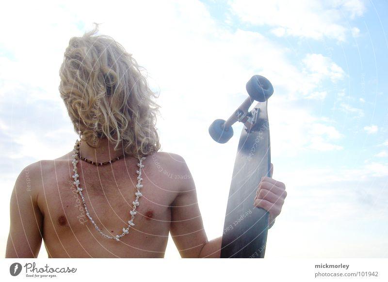 lord longboard Himmel Sonne Sommer Strand Sport nackt Spielen Haare & Frisuren Wildtier Schnur Skateboard Holzbrett Muschel Brustwarze Hippie Surfbrett