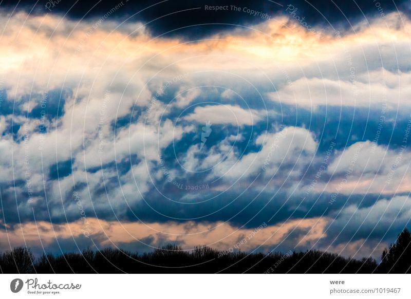 Wolkenspiegel Umwelt Natur Landschaft Himmel Gewitterwolken Klima Wetter schlechtes Wetter Unwetter Wind Sturm Regen kalt Farbfoto Außenaufnahme
