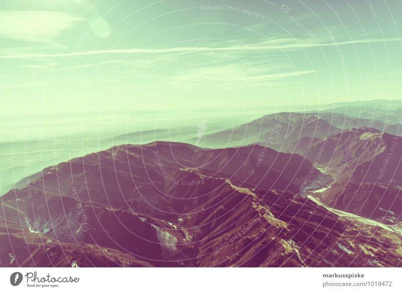 mountain view Ferien & Urlaub & Reisen Meer Freude Ferne Umwelt Berge u. Gebirge Freiheit außergewöhnlich fliegen Felsen Freizeit & Hobby Tourismus Ausflug